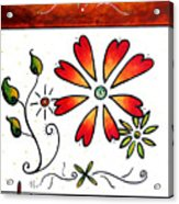 Abstract Decorative Greeting Card Art Thank You By Madart Acrylic Print
