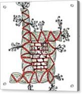 Abstract Design Of Stumps And Bricks Acrylic Print