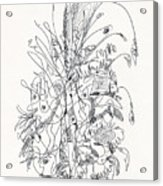 Abstract Drawing Fifty-nine Acrylic Print