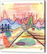 Abstract Drawing Five Acrylic Print
