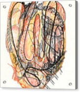 Abstract Drawing Forty-five Acrylic Print