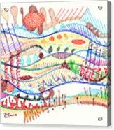 Abstract Drawing Three Acrylic Print