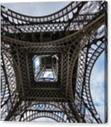 Abstract Eiffel Tower Looking Up Acrylic Print