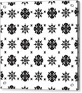 Abstract Ethnic Seamless Floral Pattern Design Acrylic Print