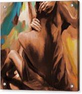 Abstract Female Back  Acrylic Print