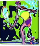 Abstract Female Tennis Player 2 Acrylic Print