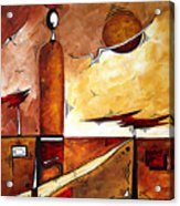Abstract Figurative Art African Flame By Madart Acrylic Print