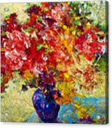 Abstract Floral 1 Acrylic Print