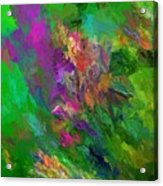Abstract Floral Fantasy 071912 Acrylic Print