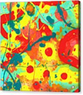 Abstract Floral Fantasy Panel A Acrylic Print