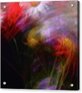 Abstract Flowers One Acrylic Print