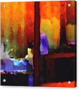 abstract from Clothesline Acrylic Print