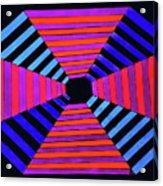 Abstract Fun Tunnel Acrylic Print
