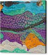 Abstract Garden Of Thoughts Acrylic Print by Julia Apostolova
