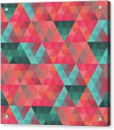 Abstract Geometric Colorful Endless Triangles Abstract Art Acrylic Print