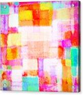 Abstract Geometric Colorful Pattern Acrylic Print by Setsiri Silapasuwanchai