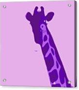 Abstract Giraffe Contours Purple Acrylic Print