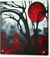 Abstract Gothic Art Original Landscape Painting Imagine I By Madart Acrylic Print
