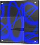 Abstract Graffitis In Blue Acrylic Print