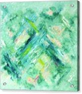 Abstract Green Blue Acrylic Print