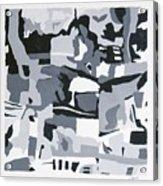 Abstract Grey Acrylic Print