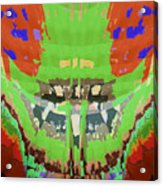 Abstract Holistic Vallely Graphic Painting Inspiration From Sargada Temple  Lights N Shades Sagrada  Acrylic Print