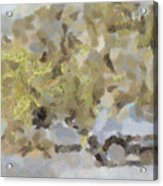 Abstract Image Of Car Passing Through A Dust Storm Acrylic Print