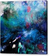 Abstract Improvisation Acrylic Print by Wolfgang Schweizer