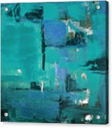 Abstract In Blue Acrylic Print