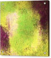 Abstract In Green And Brown Acrylic Print