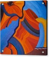 Abstract In Orange And Blue Acrylic Print