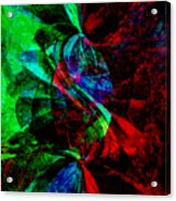 Abstract In Red And Green Acrylic Print