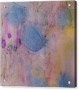 Abstract In Red, Blue, And Yellow Acrylic Print