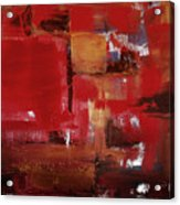 Abstract In Red Acrylic Print