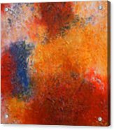 Abstract In Warm Colors Acrylic Print