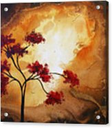 Abstract Landscape Painting Empty Nest 12 By Madart Acrylic Print by Megan Duncanson