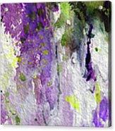 Abstract Lavender Cascades Acrylic Print