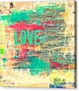Abstract Love V2 Acrylic Print