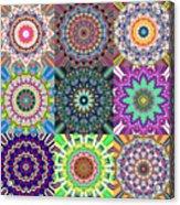 Abstract Mandala Collage Acrylic Print
