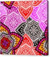 Abstract Mandala Floral Design Acrylic Print