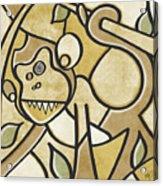 Funky Monkey - Zeeko Abstract Monkey Acrylic Print