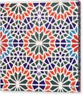 Abstract Moroccon Tiles Colorful Acrylic Print