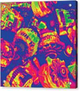 Abstract Multi-colors Metal Junk Acrylic Print
