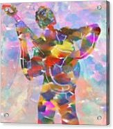 Abstract Musican Guitarist Acrylic Print