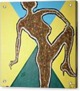 Abstract Nude Ebony In Heels Acrylic Print