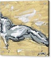 Abstract Nude Acrylic Print