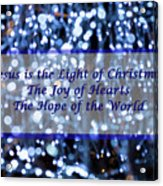 Abstract Of Blue Lights Text Acrylic Print