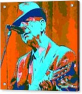 Abstract Of Leonard Cohen Acrylic Print