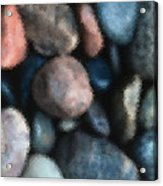 Abstract Of River Rocks 1 Acrylic Print
