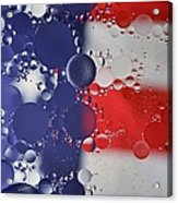 Abstract Oil And Water Usa 2 Acrylic Print
